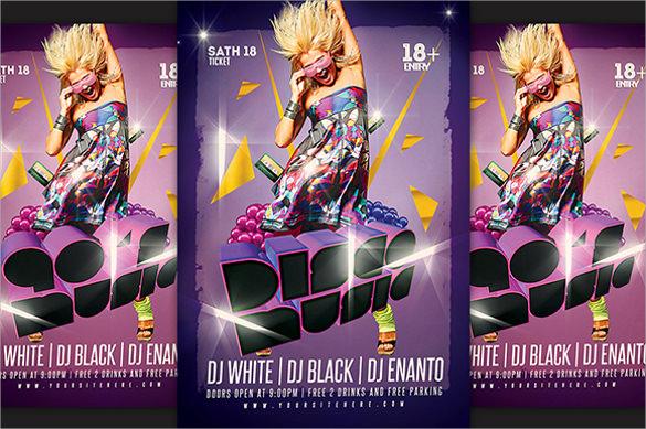 disco music flyer
