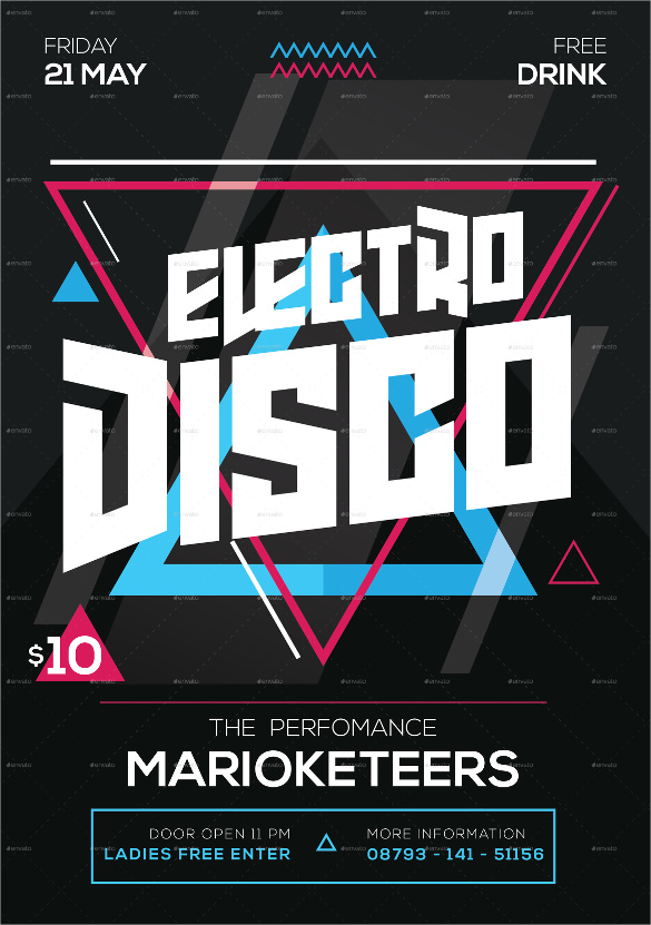 17  attractive disco flyer templates