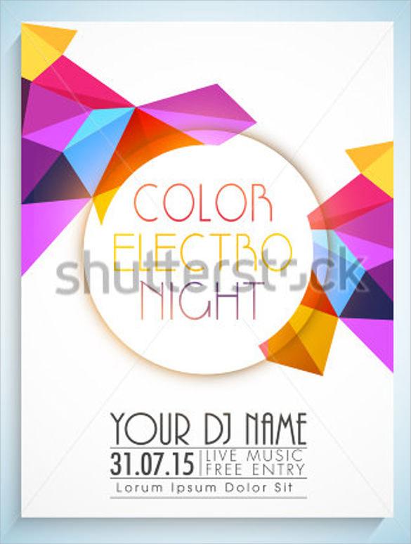 dazzling disco flyer