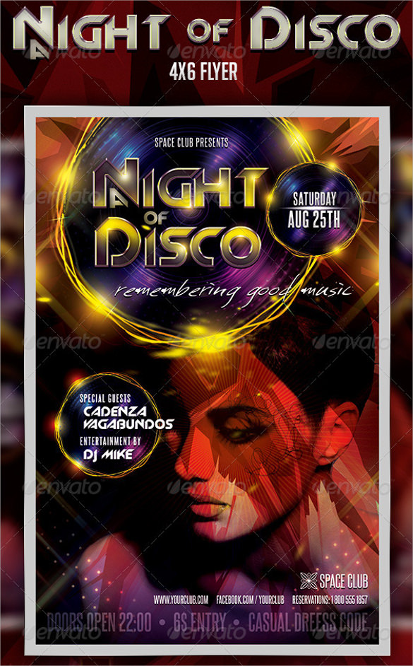 a night of disco flyer