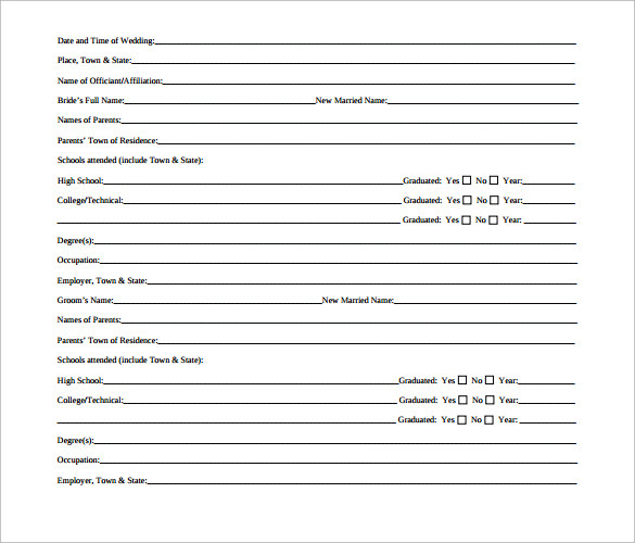 Sample Wedding Announcement - 14+ Documents in PDF, Word