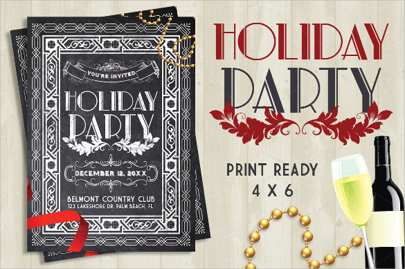 attractive holiday party flyer