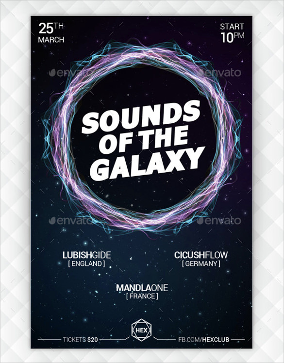 galaxy music flyer