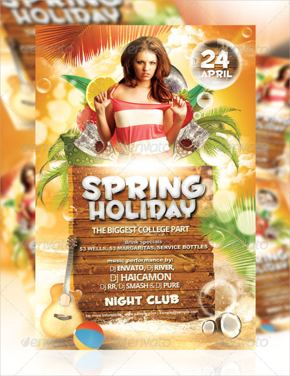 spring holiday party flyer