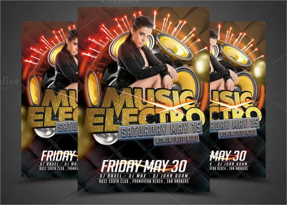 electro music flyer