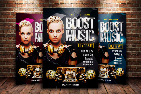 boost music flyer