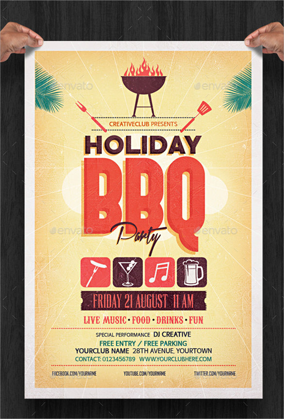 free 19  amazing holiday party flyer templates in eps
