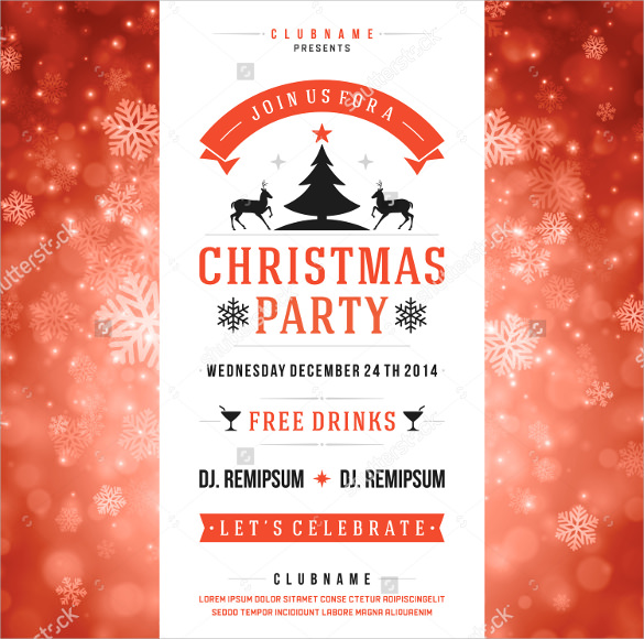 Amazing Holiday Party Flyer Templates -21+ Download Documents In ...