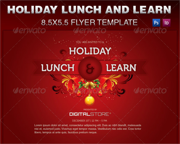 example of holiday party flyer