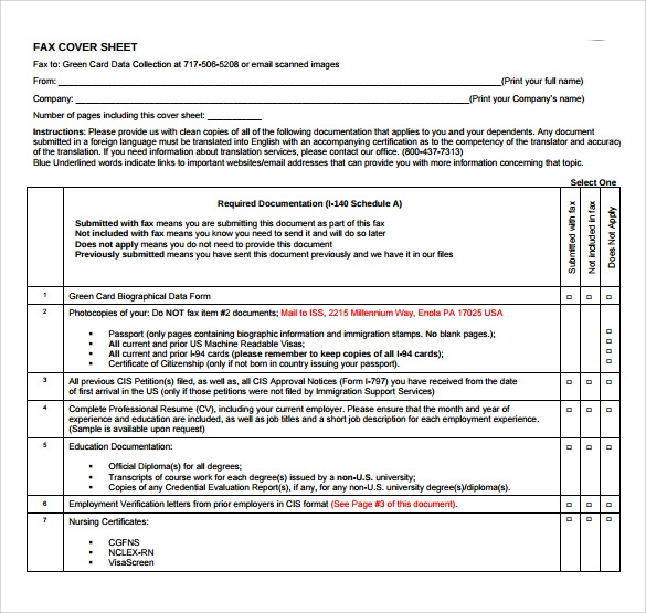 Sample Fax Cover Sheet For Cv - 4+ Documents In Pdf, Word