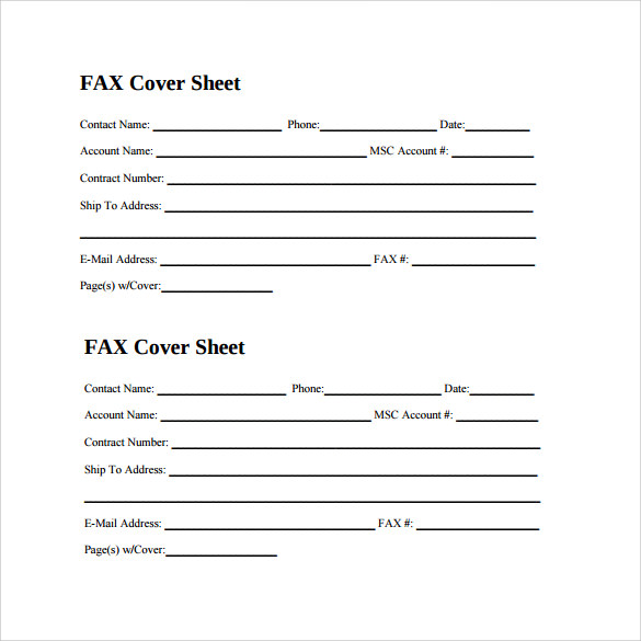 free personal fax cover sheet for cv