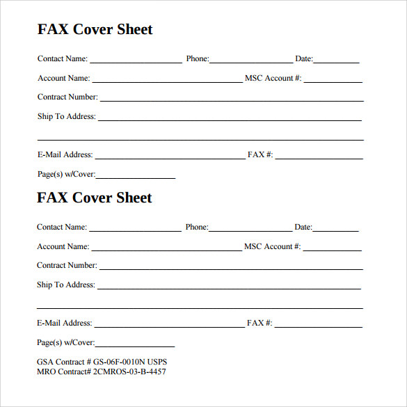 14  sample generic fax cover sheets