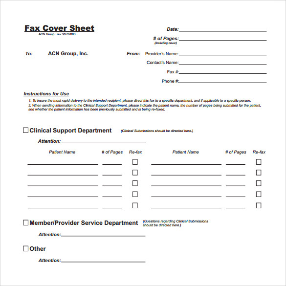 free download generic fax cover sheet
