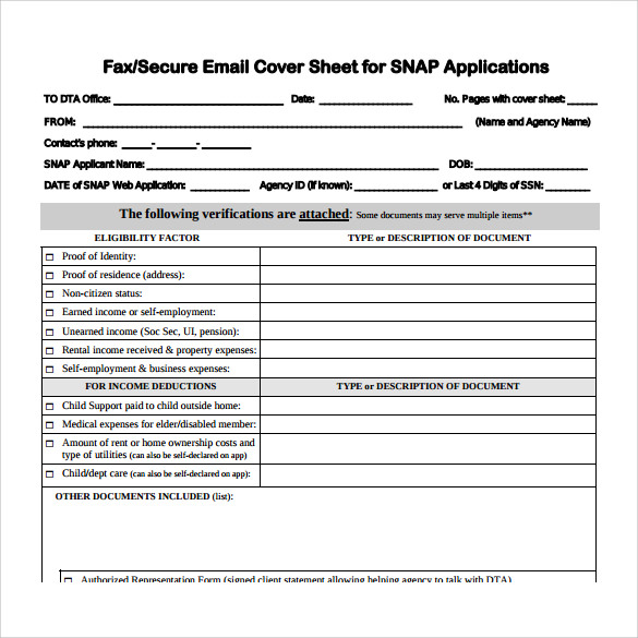 blank generic fax cover sheet
