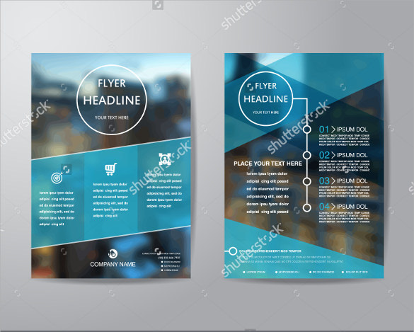Awesome Blue Flyer Template   Download Documents Vector Eps Psd