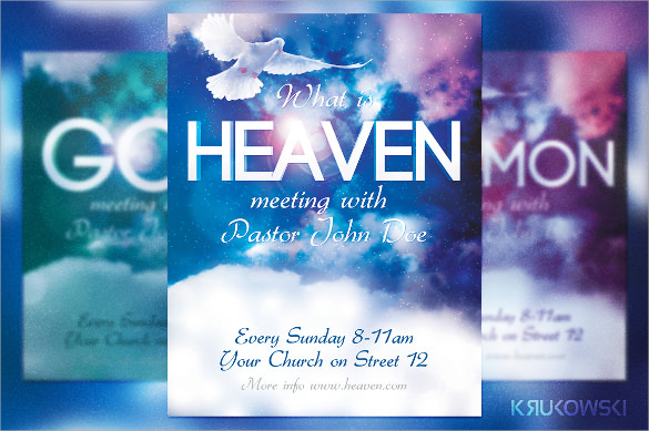 17 awesome blue flyer templates sample templates for Free church revival flyer template