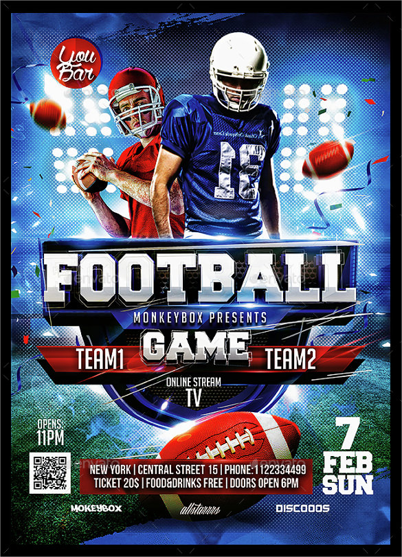 american football flyer template IW0Js9UF