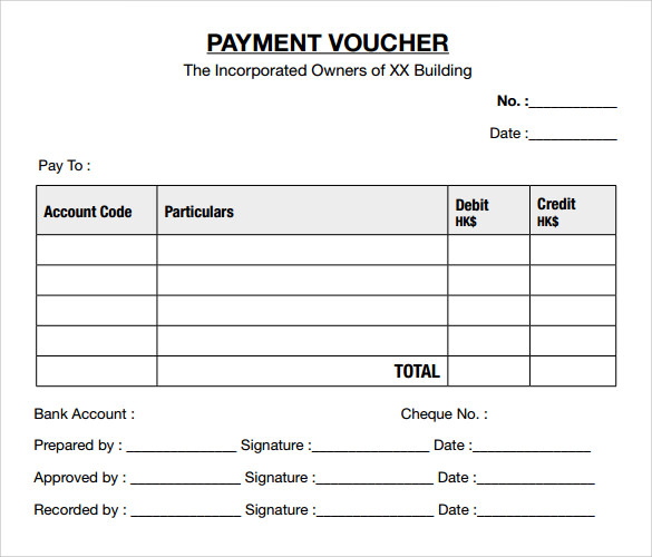 Sample Payment Voucher Format  BesikEightyCo