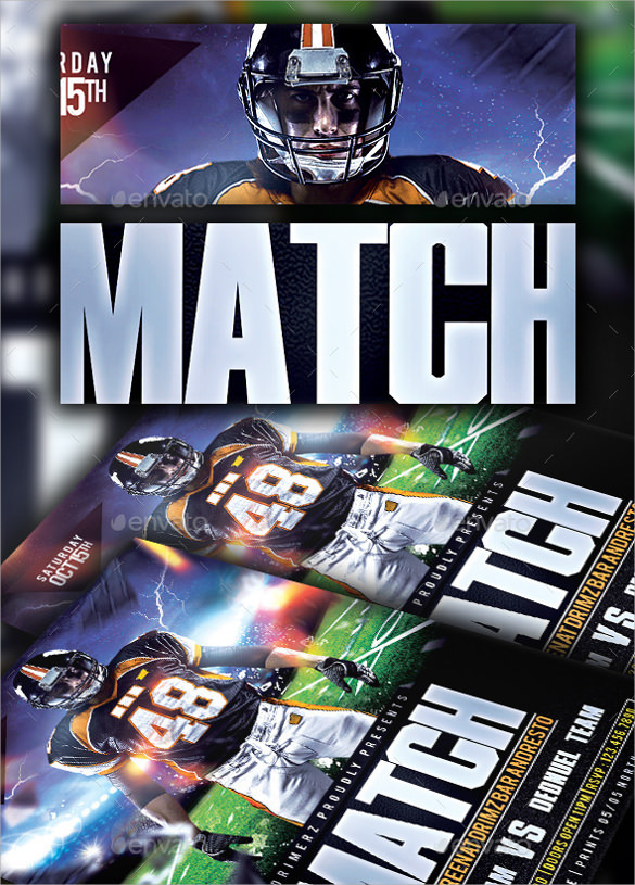 spectacular football flyer template