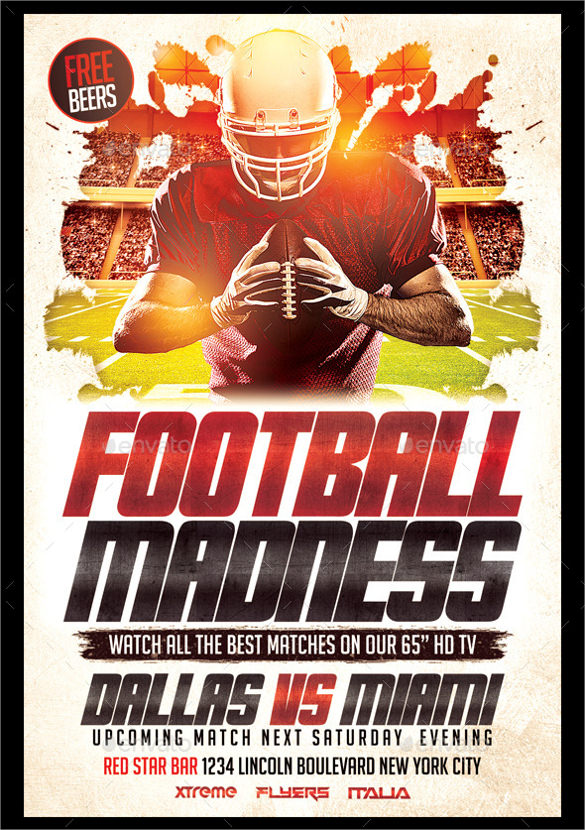15  spectacular football flyer templates