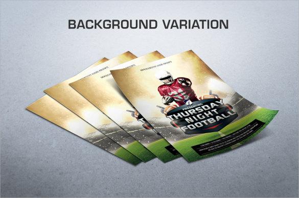 football flyer template psd
