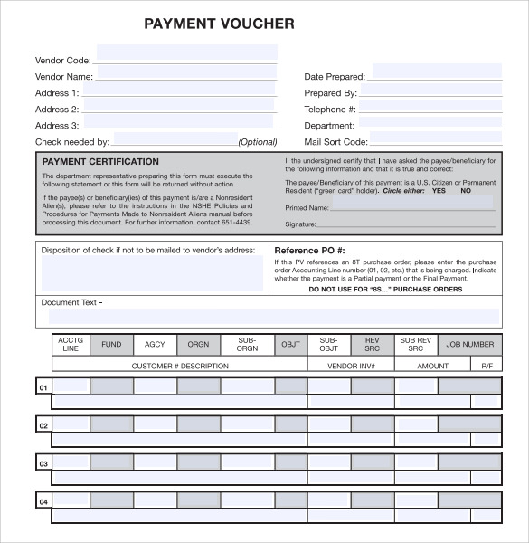10 payment voucher templates to download