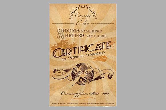caribbean wedding certificate