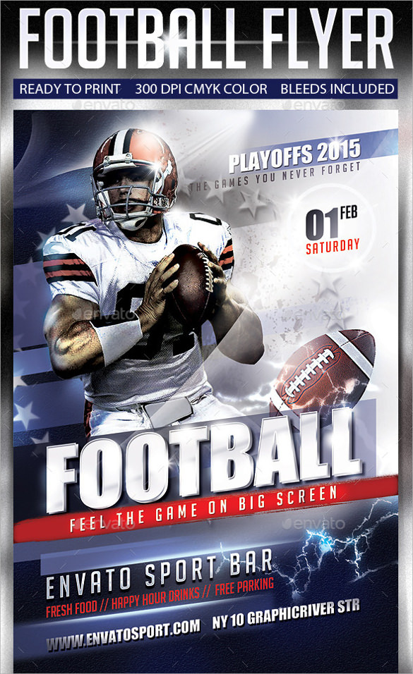 Football Flyer Design  BesikEightyCo