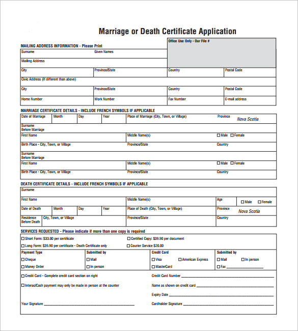 wedding certificate template