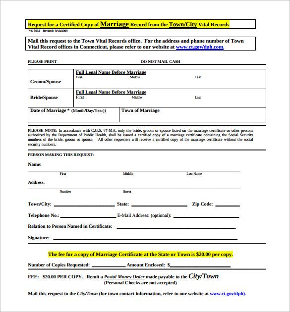 wedding certificate pdf