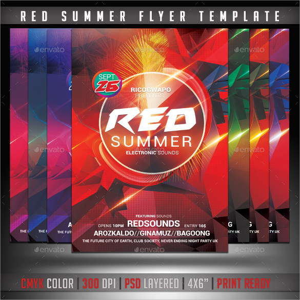 red summer flyer