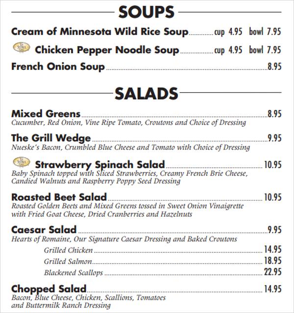 fabulous lunch menu template