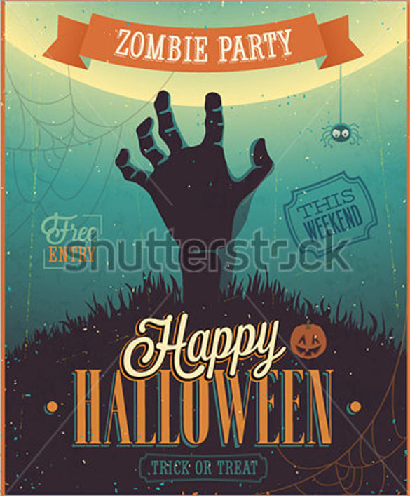 zombie flyer template