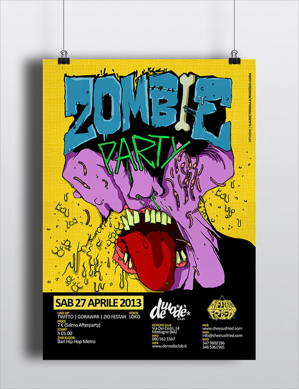 Zombie Flyer Template - 17+ Download Documents In Vector Eps, Psd