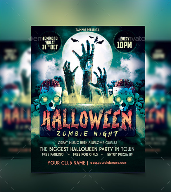 halloween party zombie flyer