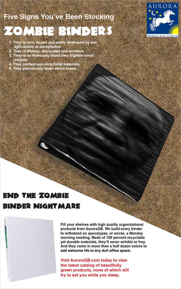 zombie binder flyer