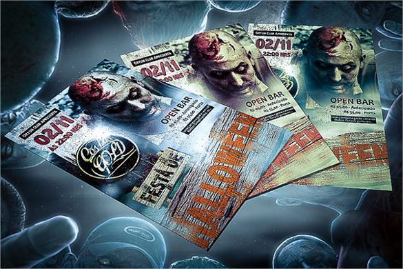 dazzling zombie flyer
