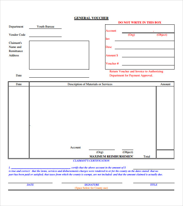 blank voucher template free pdf