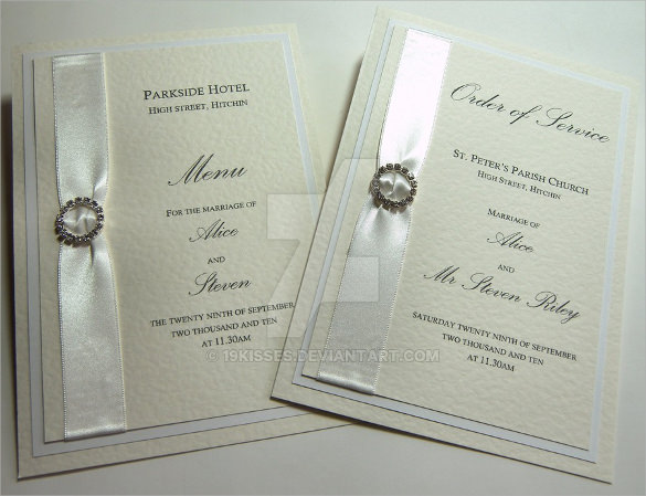 Wedding Order Of Service Template   31  Download Documents In PSD PDF SSO7x0mV