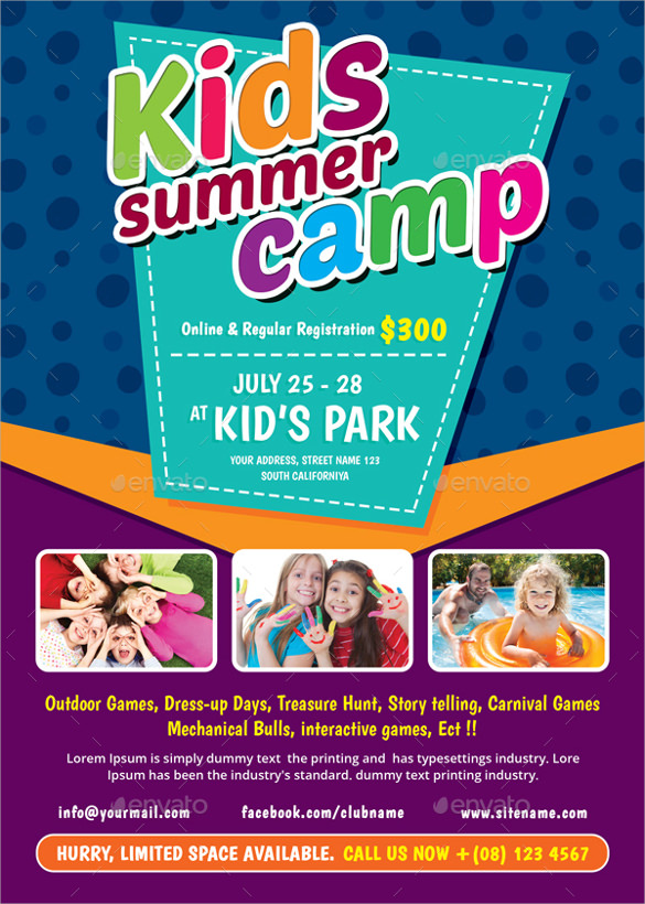 Summer Camp Flyer Template Download Documents In Vector EPS PSD - Summer camp brochure template