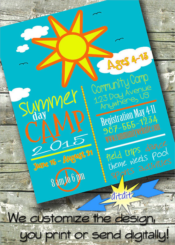 Summer Camp Flyer Template - 21+ Download Documents In Vector Eps, Psd