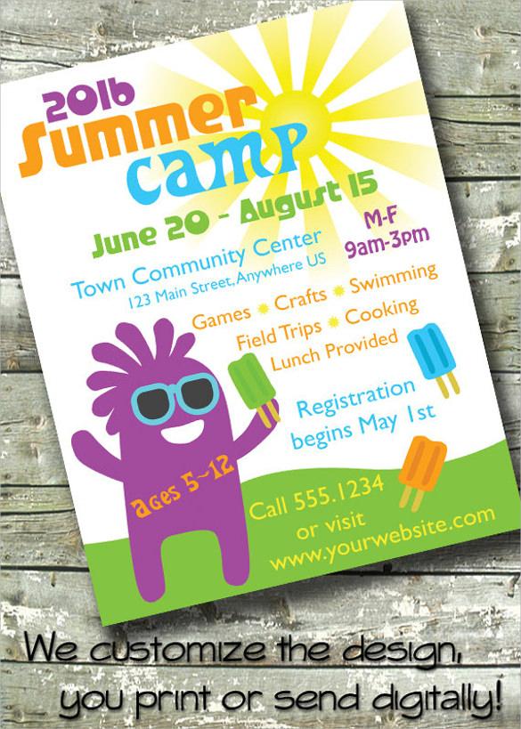 elegant summer camp flyer