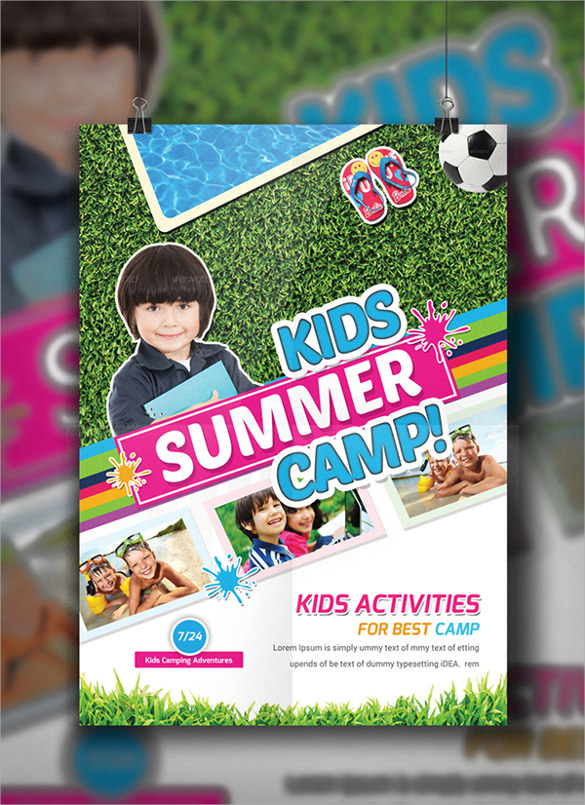 kewl summer camp flyer