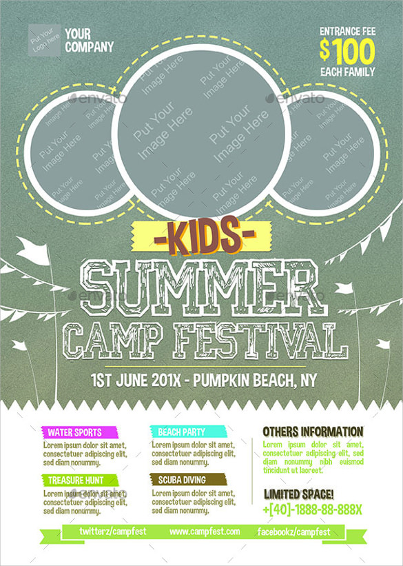 amazing summer camp flyer