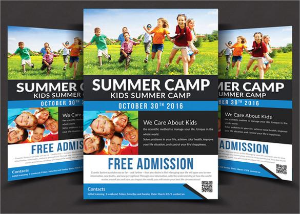 attractive summer camp flyer