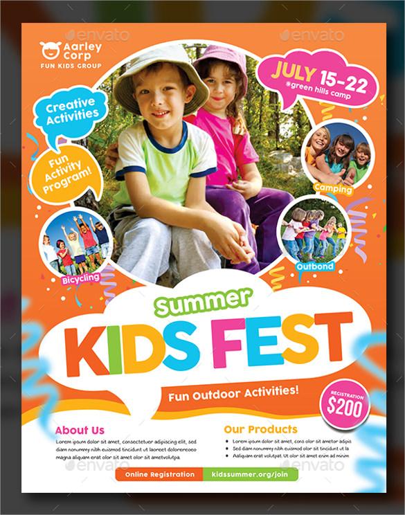 cute summer camp flyer