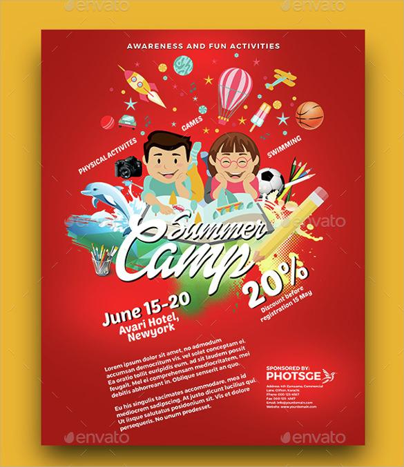 dazzling summer camp flyer