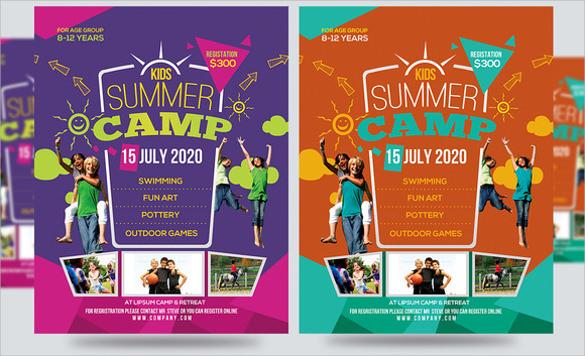 fabulous summer camp flyer