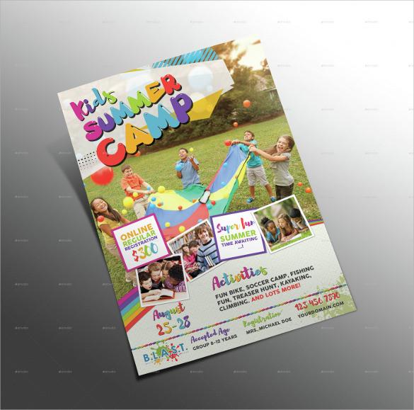 marvelous summer camp flyer
