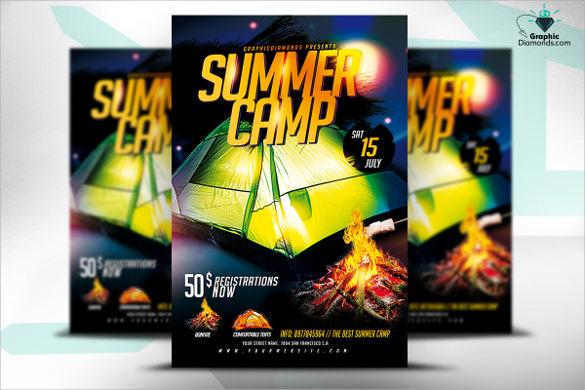 wondrous summer camp flyer
